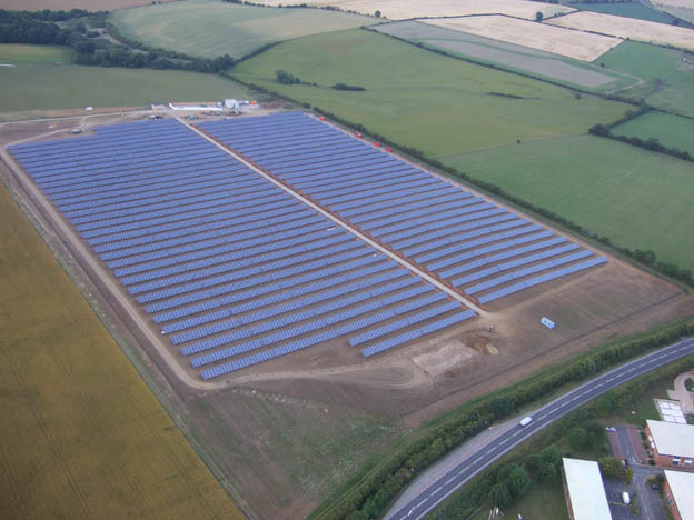 Westmill Solar Farm one of many 5MW plants installed in the UK because its Feed-in Tariffs had a 5MW ceiling