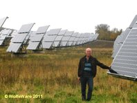 The author at Gut Erlasee solar park
