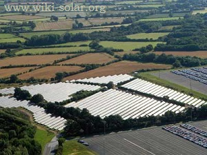 Solar park serving the Toyota plant in Derby, UK