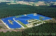 The solar park at Hemau in Germany - arguably the first community-owned large-scale solar power plant