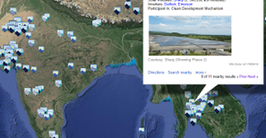 An extract from the global projects map - click to go to world map
